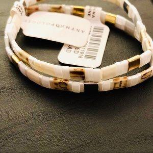 Free People Square Bead Stretch Bracelets (2)
